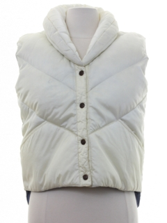 1980's Womens Totally 80s Puffy Ski Vest Jacket