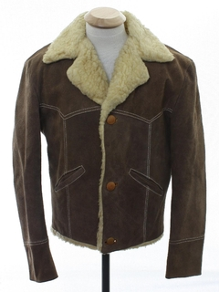 1970's Mens Western Suede Leather Jacket