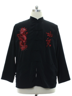 1990's Mens Asian Cheongsam Style  Shirt