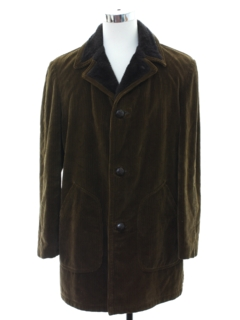1970's Mens Mod Corduroy Car Coat Jacket