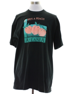 1990's Unisex Georgia Peach Travel T-shirt