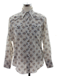 1970's Mens Hippie Rodeo Style Western Shirt