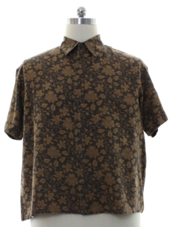 1990's Mens Turnbury Graphic Print Sport Shirt