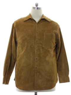 1990's Mens Suede Leather Shirt Jacket