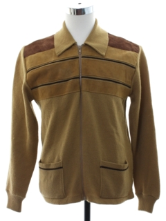 1970's Mens Leather Sweater