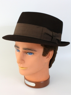 1960's Mens Accessories -Fur Felt Pork Pie Hat