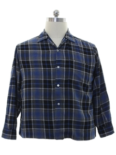1950's Mens Rockabilly Flannel Sport Shirt