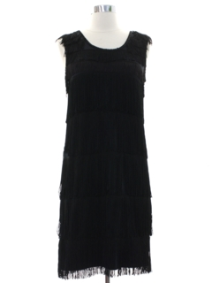 1920's Womens Mini Fringed Cocktail Dress