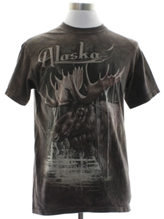 1990's Unisex Alaska Travel Animal T-shirt