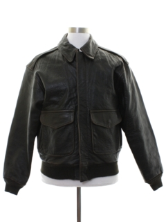 1970's Mens Bomber Leather Flight Jacket