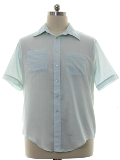 1970's Mens Mod Slightly Sheer Shirt