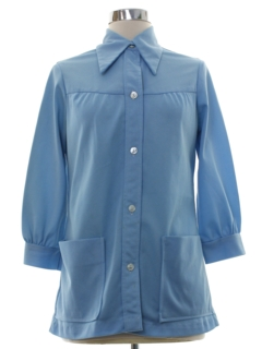 1970's Womens Smock Style Shirt