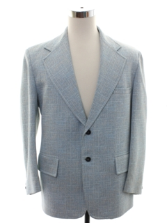 1970's Mens Powder Blue Disco Blazer Sport Coat Jacket