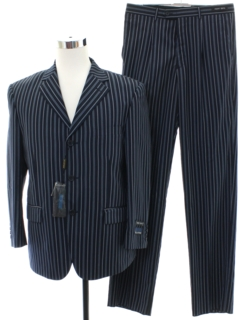 1990's Mens Wicked 90s Pinstriped Suit