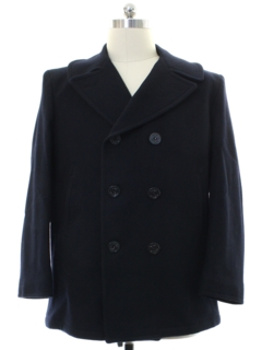 1990's Mens Pea Coat Jacket