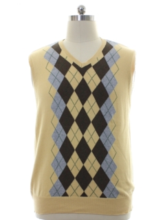 1980's Mens Preppy Argyle Sweater Vest