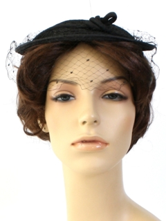 1940's Womens Accessories - Flat Top Hat