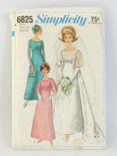 1960's Womens Bridal Sewing Pattern