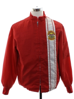 1980's Mens Totally 80s Racing Jacket
