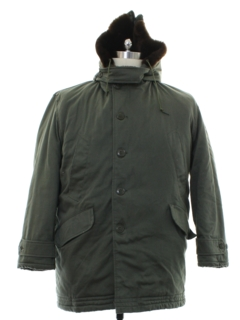1970's Mens Adirndack Style Car Coat Jacket