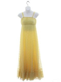 1970's Womens or Girls Hippie Prom Or Cocktail Dress