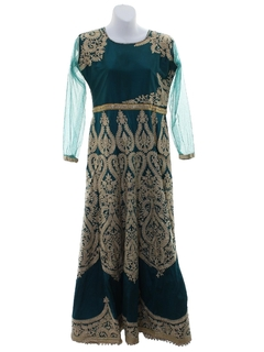 1990's Womens Ethnic Style Hippie Dress