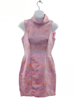1970's Womens or Girls Cheongsam Inspired Dress