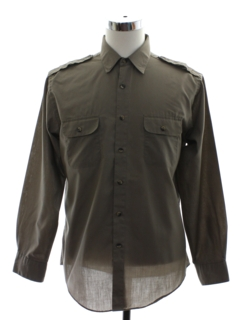 1980's Mens Safari Style Work Shirt