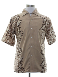 1960's Mens Mod Hawaiian Inspired Sport Shirt