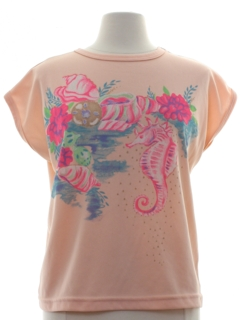 1980's Womens Totally 80s Animal T-shirt