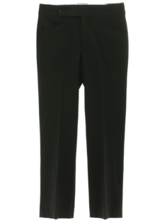 1970's Mens Black Leisure Pants