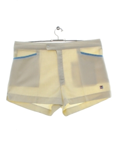 1970's Mens Mod Tennis Shorts
