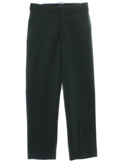 1980's Mens Military Flat Front Work Style Pants
