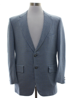 1970's Mens Houndstooth Blazer Sport Coat Jacket