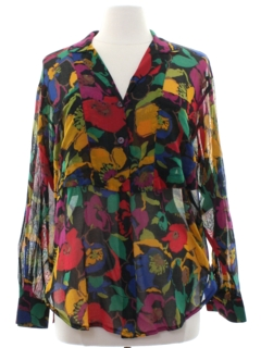 1980's Womens Totally 80s Sheer  Shirt