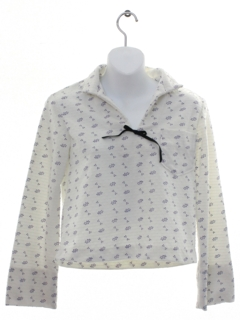 1960's Womens or Girls Knit Sailor Style Shirt