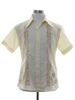 1970's Mens Sheer Embroidered Hippie Shirt