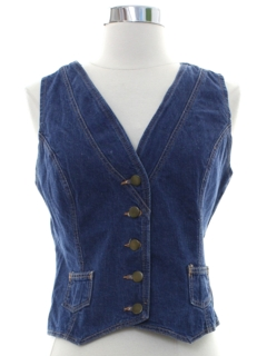 1970's Womens Denim Vest