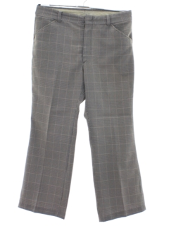 1970's Mens Plaid Flared Western Style Leisure Pants
