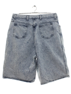 1980's Womens Totally 80s Acid Washed Denim Jeans Jorts Shorts