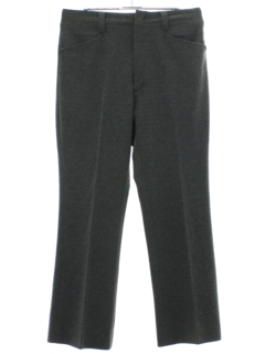 1970's Mens Flannel Flared Leisure Pants