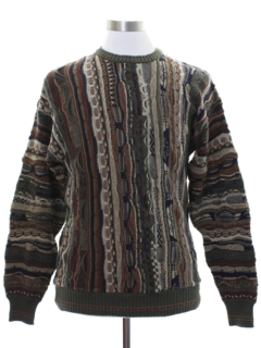 1980's Mens Totally 80s Coogi Style Cosby Sweater