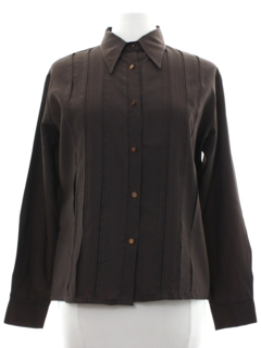 1970's Womens Pleated Secretary Shirt