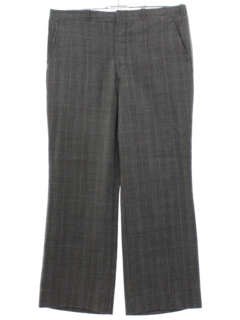1970's Mens Wide Leg Flat Front Slacks Pants