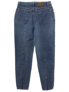 1980's Womens Totally 80s Denim Jeans Pants