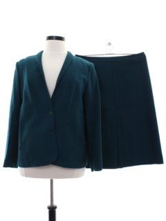 1980's Womens Blended Wool Suit