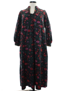 1970's Womens Christian Dior Designer Lounge Dress