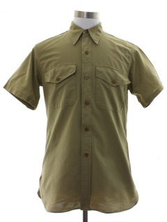 1940's Mens Uniform Work Shirt