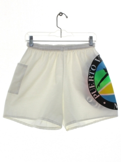1980's Mens or Boys Neon Totally 80s Board Shorts