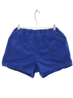 Blue and White Abstract Wolf Mens Beach Shorts Casual Running Trunks with 3 Pockets Gold